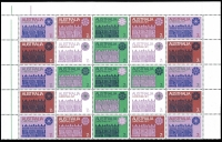 Lot 207 [1 of 2]:1969-2015 with various issues in large pieces and blocks of 4. 1971 Christmas issues block of 7 & corner block of 9 & cream paper block of 25. The 1969 Kingsford Smith issue are in blocks of 9. Face value c.$180. (100+)