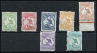 Lot 3 [2 of 2]:½d to 1/- set, small faults on 1d, 5d and 9d, otherwise fine mint. (8)