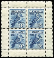 Lot 694:1928 Kookaburra Miniature Sheet very fine. BW #133, Cat $375