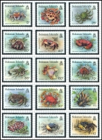 Lot 14 [6 of 7]:British Solomon Islands 1937-95 on annotated pages, post-1960s mainly complete mint sets, incl 1993 Defins, 1993 WWF Birds, etc. Useful group with many topical issues. (100s)