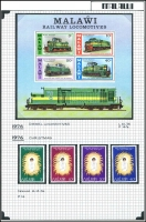 Lot 909 [2 of 4]:Malawi & Tanzania on annotated pages, Malawi mint 1963-93, incl 1968 Christmas & 1976 Locomotives, Tanzania 1967-99 with 1980 Rowland Hill set MUH, 1999 Jamboree FDC. (100s)