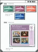 Lot 909 [1 of 4]:Malawi & Tanzania on annotated pages, Malawi mint 1963-93, incl 1968 Christmas & 1976 Locomotives, Tanzania 1967-99 with 1980 Rowland Hill set MUH, 1999 Jamboree FDC. (100s)