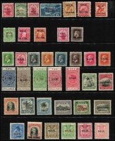 Lot 444 [1 of 2]:1902-2017 in 3 Folders on Hagner pages. The Collection starts with the full set of 1902 New Zealand Pictorial ovptd with 'NIUE' and the value in the Native Language. The collection includes the full set of NZ Stamp Duty Stamps ovptd 'NIUE' values from 2/- to £1 MLH, and the complete set of NZ Arms ovptd 'NIUE' values from 2/6d to £1 MLH. Appears to be complete to 2017, and the issues from 1950 appear to be MUH. Excellent quality throughout. (3)