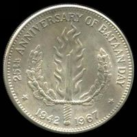 Lot 151 [1 of 2]:Phillipines: 1967 Peso, partially toned.