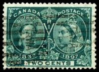 Lot 9928:1897 Jubilee Issue SG #125 2c deep green, hinge thin.