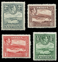 Lot 9353 [2 of 2]:1938-51 KGVI Definitives SG #98-105 short set to 1/-, Cat £18. (8)