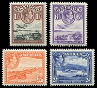 Lot 9353 [1 of 2]:1938-51 KGVI Definitives SG #98-105 short set to 1/-, Cat £18. (8)