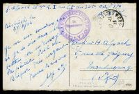 Lot 2953:1923 use of stampless coloured PPC of 'Mainz/Alter Brunnen', cancelled with '[TRESOR]