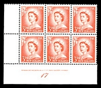 Lot 3310:1955-59 Redrawn QEII Definitives SG #748b