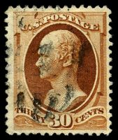 Lot 11074:1887-88 New Colours Sc #217 30c deep orange-brown, Cat $110.