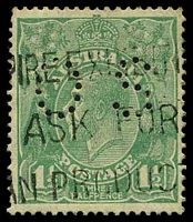 Lot 265:1½d Green Die I BW #88ba