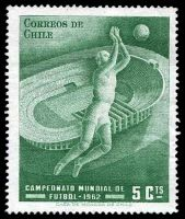Lot 12 [2 of 3]:1962 World Cup Soccer: Chile 5c green, Albania set of 2 & Hungary 20f Jules Rimet & m/s.