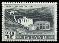 Lot 11570:1956 Electricity & Waterfalls 2.45k black, SG #3.40 Cat £7.50.