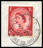 Lot 3095 [2 of 2]:Christmas Island - British PO: 'B.F.P.O./*/26AP/57/CHRISTMAS ISLAND' on GB 2½d red on air cover to Honolulu.  PO c.1956; closed c.1964.
