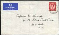 Lot 3095 [1 of 2]:Christmas Island - British PO: 'B.F.P.O./*/26AP/57/CHRISTMAS ISLAND' on GB 2½d red on air cover to Honolulu.  PO c.1956; closed c.1964.