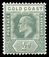 Lot 11100:1907-13 Multi Crown/CA Wmk SG #59 ½d dull green.