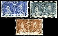 Lot 11101:1937 Coronation SG #117-9 set of 3.