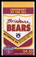 Lot 581:1996 $4.50 Centenary of AFL - Brisbane Bears BW #B208Bc