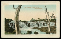 Lot 8419:Warrnambool: multi-coloured PPC 'The Hopkins Falls, No. 2, Warrnambool', a Jordan Series card, unused.  PO 1/1/1849.