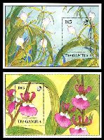 Lot 8252:1989 Orchids SG #968-9 set of 2 M/sheets.