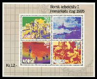 Lot 13763:1985 Stamp Day - Norwegian Working Life SG #960 M/sheet.