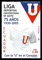 Lot 2807:2005 75th Anniv. of University Sports League, Quito $2 M/S, unrecorded SG.