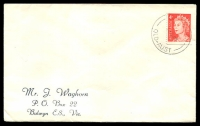 Lot 5320:Bluewater: 'BLUEWATER/14JE66/QLD-AUST' on 4c red QEII on Waghorn cover. [Rated 2R]  TO c.-/2/1960; PO c.-/5/1960.