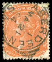 Lot 6852:Aberdeen: 22mm squared-circle 'ABERDEEN/1/MA21/94/S_A' on 2d orange DLR.  PO c.1874; renamed Burra North PO 1/12/1939.