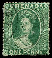 Lot 3131:1881 Chalon Wmk Small Star (Sideways)  Rough Perf 14½ SG #19