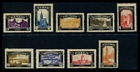 Lot 91:Germany: 1920 Lost Territories mourning set of 9.