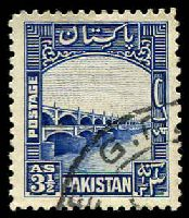Lot 13782:1948-57 Pictorials SG #32 3½a bright blue.