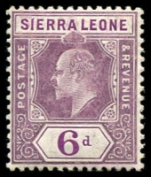Lot 14124:1907-12 KEVII New Colours SG #107 6d dull & bright purple, Cat £22.