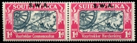 Lot 21128 [2 of 2]:1938 Opts on Voortrekker SG #109-10 1d & 1½d in pairs, Cat £38.