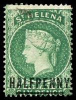 Lot 20666:1884-94 QV Wmk Crown/CA Perf 14 SG #34 ½d emerald, Cat £25.