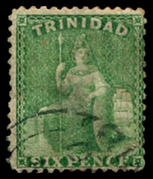 Lot 21554:1863-80 Britannia Wmk Crown/CC Perf 12½ SG #72 6d emerald-green, Wmk double-lined 'N'.