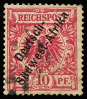 Lot 3492 [2 of 4]:1897 'Südwest-Afrika' Hyphenated Mi #1-4