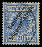 Lot 3492 [1 of 4]:1897 'Südwest-Afrika' Hyphenated Mi #1-4