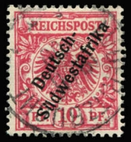 Lot 3493 [3 of 4]:1898-99 'Südwestafrika' No Hyphen Mi #6-8,10