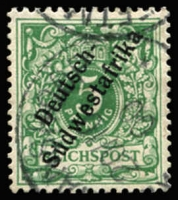 Lot 3493 [4 of 4]:1898-99 'Südwestafrika' No Hyphen Mi #6-8,10