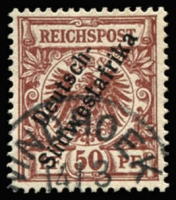 Lot 3493 [1 of 4]:1898-99 'Südwestafrika' No Hyphen Mi #6-8,10