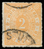 Lot 17247:1869 Numeral Roul 10 Mi #37a 2kr orange, Cat €170