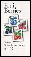 Lot 11077:1999-2000 $4.95 Fruit Berries Sc #BK276A 33c multicolour, combination panes with label, P#B1112, Cat $11.50.